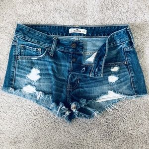 Hollister Shorts - Hollister Destroyed Denim Shorts Size 5/W27.